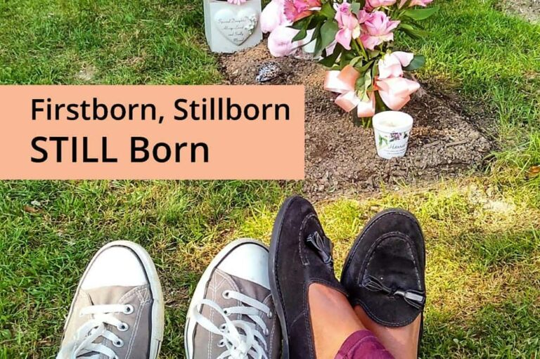 Parenting, Safe Spaces, Spaces International, Hannah-Grace's parents in front of her grave, Title of the poem - Firstborn, Stillborn Still Born