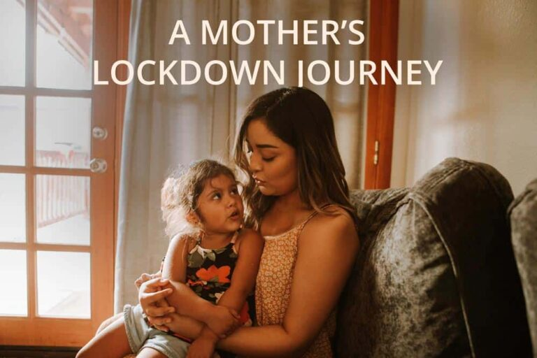 Parenting, Motherhood, Safe Spaces, Spaces International, Stock Image with a mother and daughter, Title of the article - A mother's lockdown journey